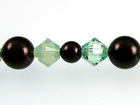 Swarovski Bead Mixes bicone & round 4, 5 and 6mm Mint chip pearl