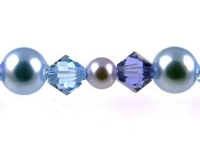 Swarovski Bead Mixes bicone & round 4, 5 and 6mm Mist (lavender and light sapphire)