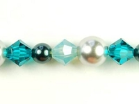 Swarovski Bead Mixes bicone & round 4, 5 and 6mm Ocean