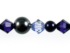 Swarovski Bead Mixes bicone & round 4, 5 and 6mm Purple twilight pearl