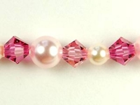Swarovski Bead Mixes bicone & round 4, 5 and 6mm Rosebud
