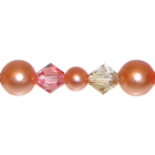 Swarovski Bead Mixes bicone & round 4, 5 and 6mm Spring Peach Pearl