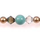 Swarovski Bead Mixes bicone & round 4, 5 and 6mm Vintage Bronze