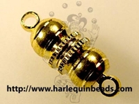 Image base metal large barrel magnetic clasp gold finish