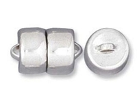 base metal 9mm magnetic clasp silver finish