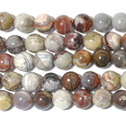 Laguna Lace Agate 10mm round swirly browns, greys and reds
