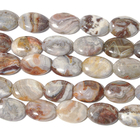 Laguna Lace Agate 10 x 14mm oval swirly browns, greys and reds