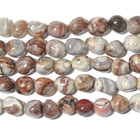 Laguna Lace Agate 8 x 10mm nugget swirly browns, greys and reds