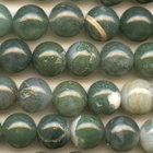 Moss Agate 10mm round mottled green