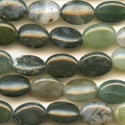 Moss Agate 10 x 14mm oval mottled green