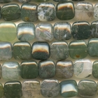Moss Agate 12mm square mottled green