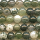 Moss Agate 8mm round mottled green