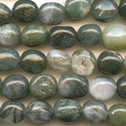 Moss Agate 8 x 10mm tumbled nugget mottled green