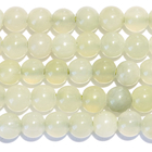 New Jade 8mm round pale green