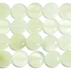 New Jade 12mm coin pale green
