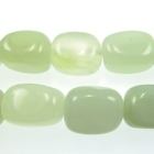 New Jade 12 x 16mm nugget pale green