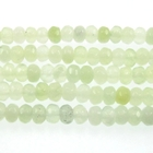 New Jade 4mm faceted rondell pale green