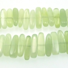 New Jade 5 x 15mm long flat chip pale green
