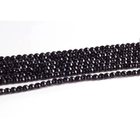 Black Onyx 4mm faceted round black