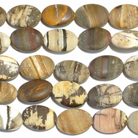 Outback Wood Jasper 10 x 14mm oval mixed browns