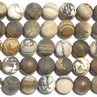 Outback Wood Jasper 6mm round mixed browns