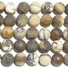 Outback Wood Jasper 8mm round mixed browns