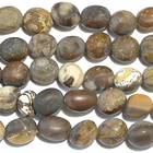 Outback Wood Jasper 8 x 10mm nugget mixed browns