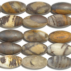 Outback Wood Jasper 8 x 16mm large oval mixed browns