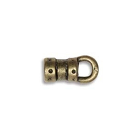 base metal 3 x 10mm decorative cord end antique brass
