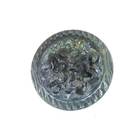Czech Glass Buttons light blue green vitrail 3 flower button with glass shank 14mm