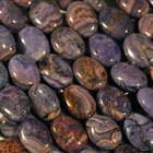 Crazy Lace Agate 10 x 14mm oval purple