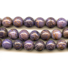 Crazy Lace Agate 12mm round purple