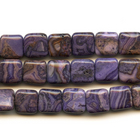 Crazy Lace Agate 12mm square purple