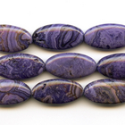 Crazy Lace Agate 15 x 30mm oval purple