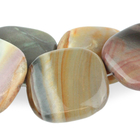 Polychrome Jasper 30mm square red, browns and grey