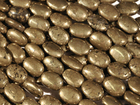 Pyrite 10 x 14mm oval rich gold