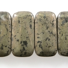 Pyrite 10 x 20mm double drill rectangle rich gold