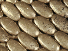Pyrite 15 x 30mm oval rich gold