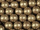 Pyrite 16mm round rich gold
