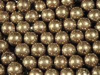Image Pyrite 4mm round rich gold