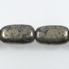 Pyrite 8 x 14mm rectangle rich gold