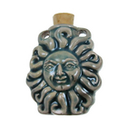 Sun Clay Bottles 33 x 37mm blue green raku glaze