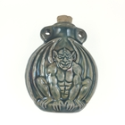 Gargoyle Clay Bottles 43 x 51mm blue green raku glaze