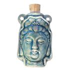Kuan Yin Clay Bottles 27 x 42mm blue green raku glaze