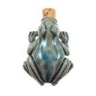 Tree Frog Clay Bottles 36 x 48mm blue green raku glaze