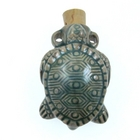 Sea Turtle Clay Bottles 30 x 45mm blue green raku glaze