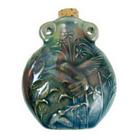 Hummingbird Clay Bottles 50 x 42mm blue green raku glaze