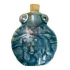 Bear Clay Bottles 50 x 42mm blue green raku glaze