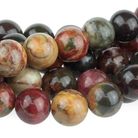 Image Red Creek Jasper 10mm round mixed colors