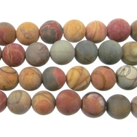 Red Creek Jasper 10mm round mixed colors